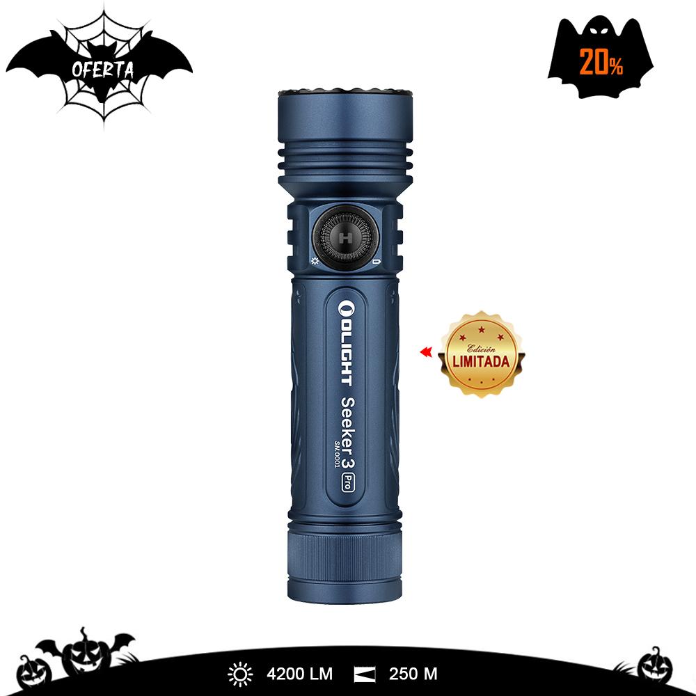 Seeker 3 Pro Grabado Linterna de iluminación