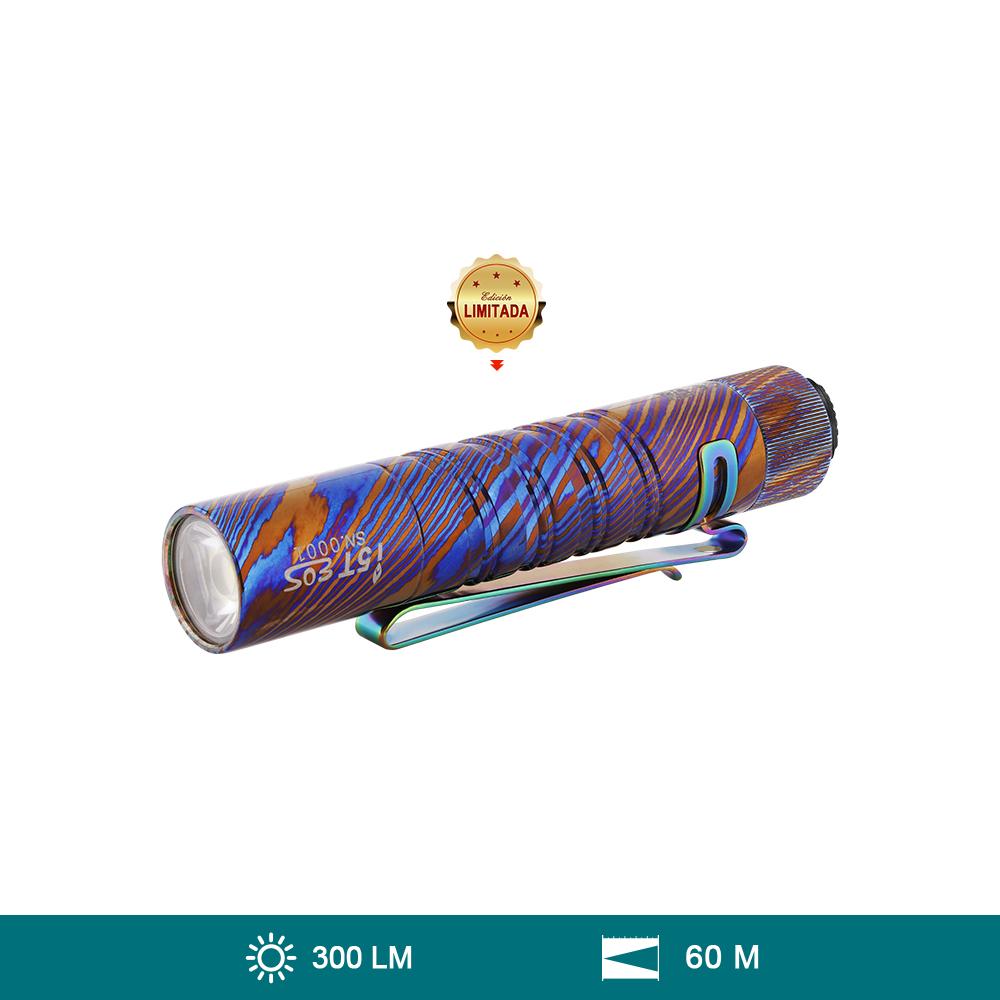 Olight Titanio Damasco i5T (300 Lúmenes Linterna EDC Recargable Impermeable)