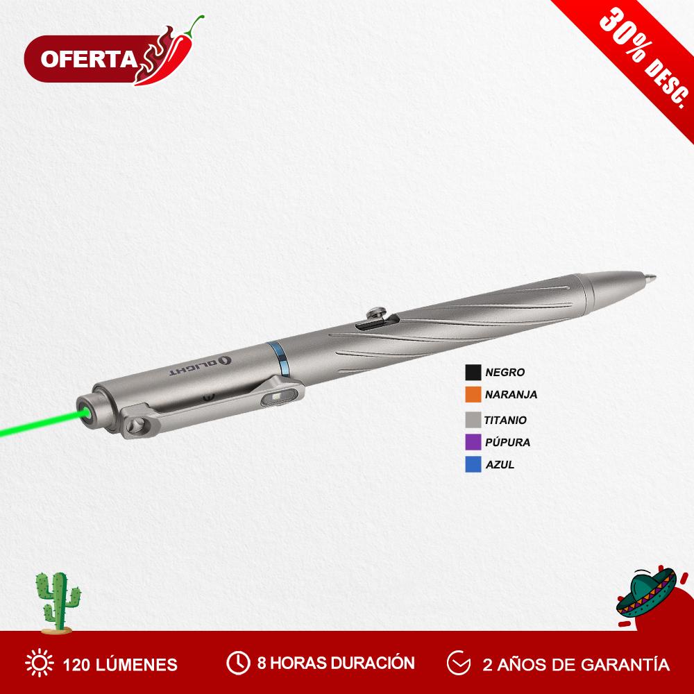 Olight Open pro (120 Lúmenes Bolígrafo con Linterna y Láser Verde)