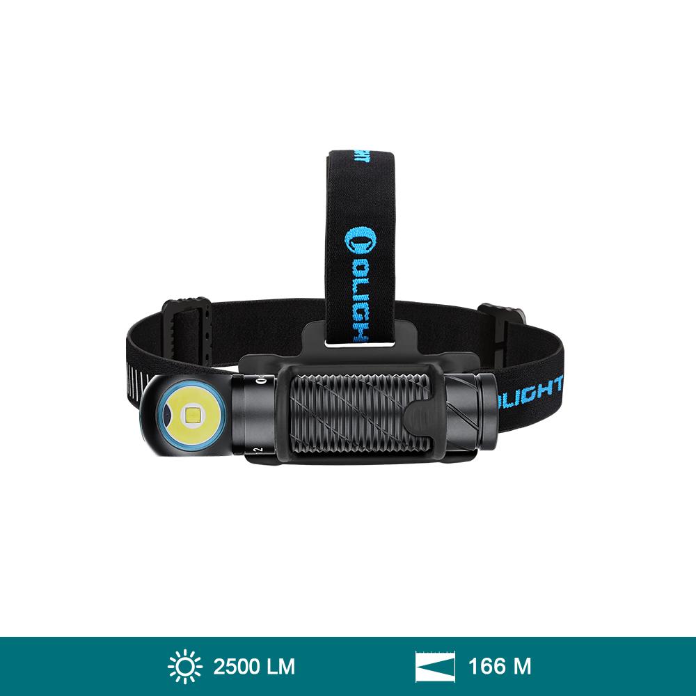 Olight Perun 2 Kit Lámpara de Cabeza LED Recargable 2500 Lúmenes