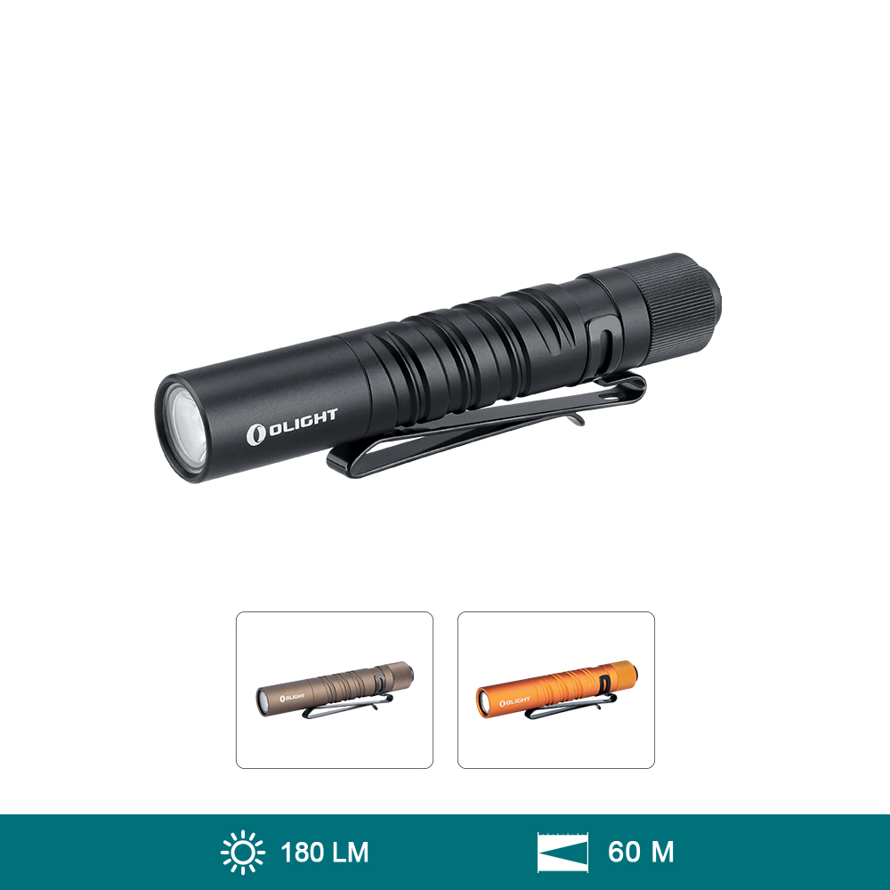 Olight i3T EOS (180 Lúmenes Mini Linterna EDC Portátil Recargable)