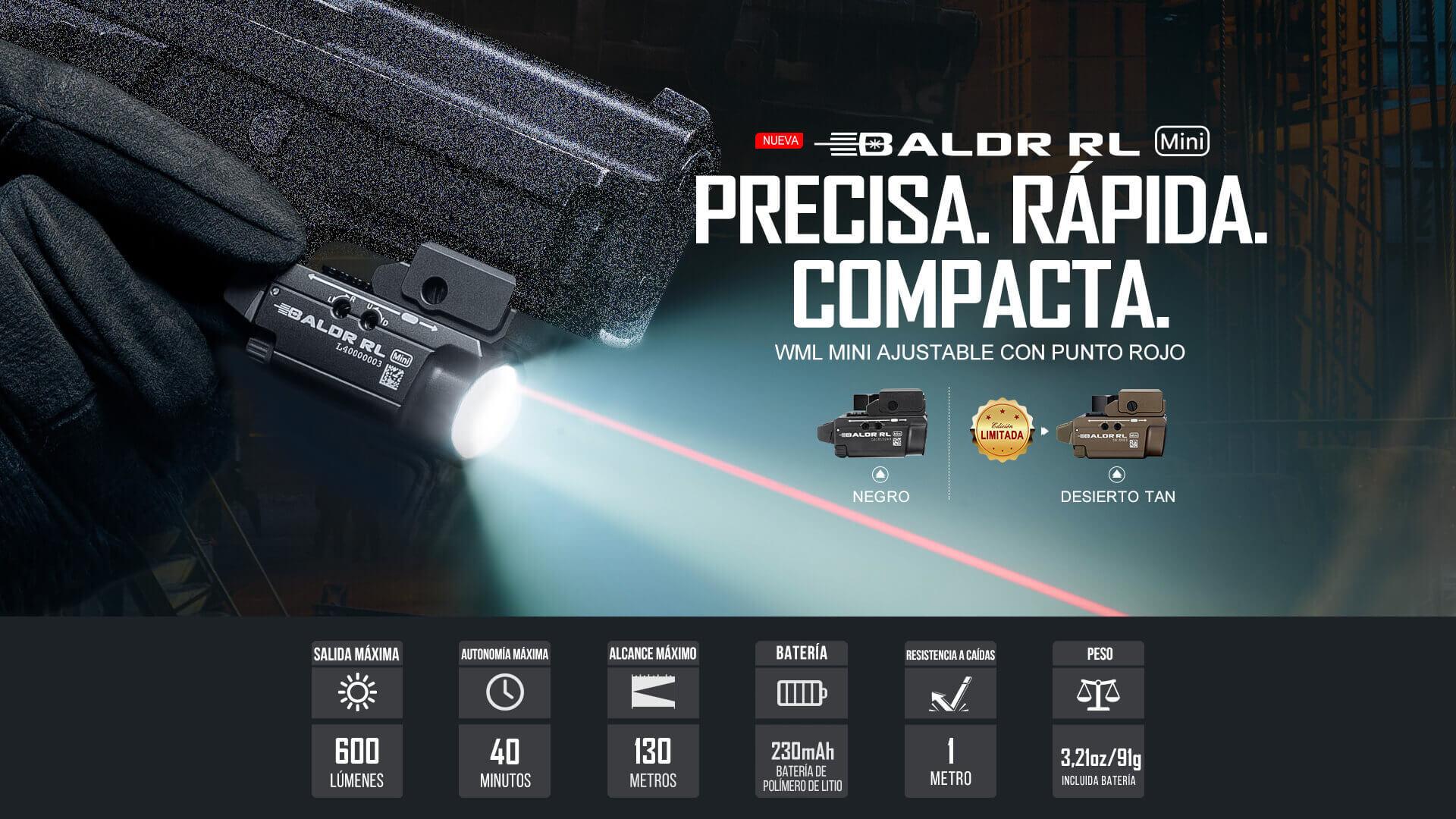 Olight Baldr RL Mini es una linterna táctica precisa, rápida y compacta